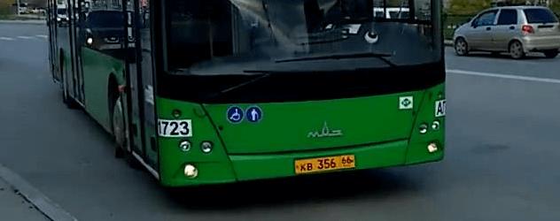 Автобус Маз в городе