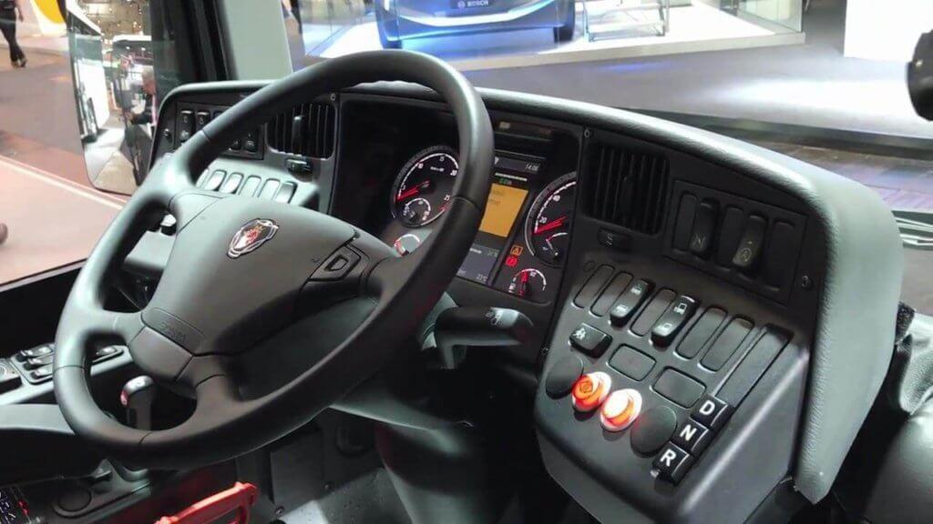 Scania Citywide руль, панель управления